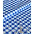 Плащевка Клетка сине-белая, ш. 150 см