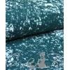 Футер 3-нитка с начесом (хлопок, пенье, ш. 180 см), Брызги на зеленом
